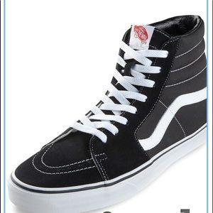 Vans gently worn canvas & suede high top sneakers